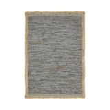 World Menagerie Hinkel Dusty Gray Area Rug Leather/Cotton/Jute & Sisal in Brown/Gray, Size 96.0 H x 60.0 W x 0.1 D in | Wayfair