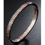 Streetregion Women's Bracelets Rose - 18k Rose Gold-Plated Great Wall Bangle