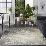 """Nourison Area Rug, Passion , Modern Abstract, Charcoal/Ivory, 2'2"""" x 7'6"""" (2x8), 2'2""""X7'6"""","""