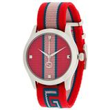 GG Web Watch - Red - Gucci Watches