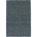 Dash and Albert Rugs Honeycomb Geometric Hand-Woven Flatweave Indigo Area Rug Polyester/Cotton/Wool in Blue/Brown, Size 96.0 H x 60.0 W x 1.0 D in