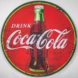 Crystal Art Gallery Drink Coca Cola Metal Sign Wall Decor Metal in Red, Size 40.0 H x 40.0 W x 0.25 D in   Wayfair 225497WEB
