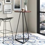 m.a.d. Furniture Delta Bar Height Dining Table Wood/Metal in Black, Size 41.5 H x 23.5 W x 23.5 D in | Wayfair G50BT-BL-WA