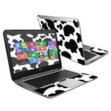 """MightySkins Skin Compatible with HP Stream 14"""" (2015) Laptop Cover wrap Sticker Skins Cow Print"""