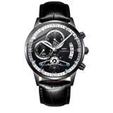 OLMECA Men's Watch Sports Waterproof Wristwatches Fashion Dress Watches for Men Analog Quartz Chronograph Date Watch for Men 0835M-QHYDpd