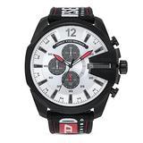 Diesel Men's MEGA Chief Stainless Steel Quartz Watch with Nylon Strap, Black, 26 (Model: DZ4512)