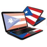 """MightySkins Skin Compatible with HP Pavilion G6 Laptop with 15.6"""" Screen wrap Sticker Skins Puerto Rican Flag"""