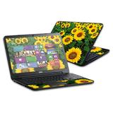 """MightySkins Skin Compatible with Dell Inspiron 15 i15RV Laptop 15.6"""" (Released 2013) wrap Sticker Skins Sunflowers"""