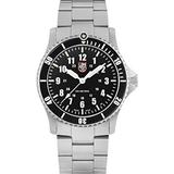 Luminox Limited Edition Navy Seals Mens Wrist Watch Silver Case (XS.0901.30th) with 2 Straps: Webbing Strap and Stainless Steel Bracelet, 200 M Water Resistant, Sapphire Crystal