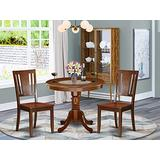 East West Furniture Kitchen Dining Table Set- 2 Amazing Dining Room Chairs - A Lovely Wood Dining Table- Wooden Seat and Mahogany Dining Table
