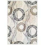 Modern Area Rugs Ivory 4x6 Rugs for Entryway and Living Room Foyer Rugs 4'x6' Clearance