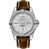 Breitling Galactic 41 Diamond Bezel Men's Watch with Brown Leather Strap A49350LA/G699-431X