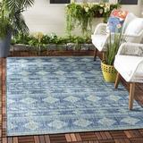 Union Rustic Nowak Southwestern Navy Indoor/Outdoor Area Rug Polyester/Polypropylene in Blue/Brown/Navy, Size 24.0 W x 0.24 D in | Wayfair