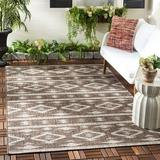 Union Rustic Nowak Southwestern Indoor/Outdoor Area Rug Polyester/Polypropylene in Brown, Size 43.0 H x 24.0 W x 0.24 D in | Wayfair