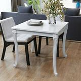 Tidyard High Gloss Dining Table, Square Breakfast Dining Table for Home Dining Room Kitchen Living Room White