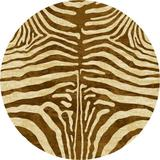 World Menagerie Blanquilla Animal Print Caramel Area Rug in Brown, Size 91.0 H x 91.0 W x 0.38 D in | Wayfair 0210CRL296