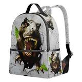 Dinosaur Backpack for Boys, 3D Bookbag Small Kids School Backpacks Cute Elementary School Bags Rucksack Grey Waterproof for Kids Girls Boys