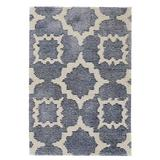 Dash and Albert Rugs China Hand-Tufted Blue Area Rug Wool in White, Size 60.0 H x 36.0 W x 0.25 D in   Wayfair DA859-35