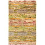 Dash and Albert Rugs Sylva Hand-Knotted Green/Yellow/Brown Area Rug Cotton/Jute & Sisal in Brown/Green/Yellow, Size 144.0 H x 108.0 W x 0.25 D in