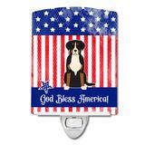 Caroline's Treasures Patriotic USA Pug Ceramic Night Light Ceramic, Size 6.0 H x 3.0 W x 3.0 D in | Wayfair BB3032CNL