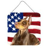 East Urban Home Patriotic Wall Decor Metal in Red, Size 6.0 H x 6.0 W x 0.03 D in   Wayfair 12AA1CA99BCB4B9092DBA98D27B06A02