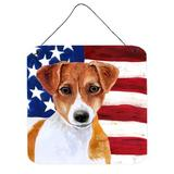 East Urban Home Patriotic Wall Decor Metal in Red, Size 6.0 H x 6.0 W x 0.03 D in   Wayfair 0442F32CA39342C692147E93248EAD92