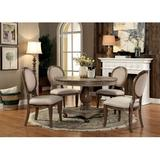 Laurel Foundry Modern Farmhouse® Demaio 5 Piece Dining Set Wood/Upholstered Chairs in Brown, Size 30.0 H in | Wayfair