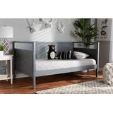 Baxton Studio Cintia Cottage Farmhouse Grey Finished Wood Twin Size Daybed - Cintia-Grey-Daybed