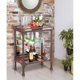 "Canora Grey Mclean Bar Cabinet, Metal in Antique Espresso, Size 34""H X 26""W X 15""D 