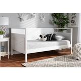 Baxton Studio Cintia Cottage Farmhouse White Finished Wood Twin Size Daybed - Cintia-White-Daybed
