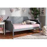 Baxton Studio Mariana Classic and Traditional Grey Finished Wood Twin Size Daybed - Mariana-Grey-Daybed