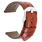 DITOU Watch Band,Vintage Leather Watch Strap 4 Colors 20mm 22mm 24mm Watch Band,Handmade Leather Watch Band,Classic Genuine Leather Wristband for Men Women Samsung Replacement Band
