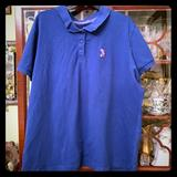 Disney Tops | Bright Blue Mickey Mouse Polo Shirt | Color: Blue | Size: 3x