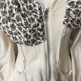 Anthropologie Sweaters | Anthropologie 100% Wool Zip Up Sweater. | Color: Cream | Size: S
