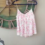 American Eagle Outfitters Tops | American Eagle Top | Color: Cream/Pink | Size: Xl