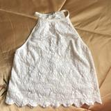 American Eagle Outfitters Tops | Lace Top | Color: White | Size: M