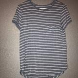 American Eagle Outfitters Tops | Ae Soft&Sexy Tee | Color: Blue/Gray | Size: S