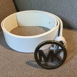 Michael Kors Accessories | (2200). Michael Kors (Michael) Belt. Size L | Color: White | Size: L