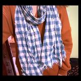 American Eagle Outfitters Accessories | American Eagle Scarf | Color: Blue/White | Size: Os