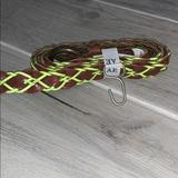 American Eagle Outfitters Accessories   American Eagle Skinny Belt   Color: Brown/Yellow   Size: Mediumlarge
