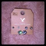 American Eagle Outfitters Jewelry | American Eagle Cubic Zirconia Diamond Studs | Color: Gold/Silver | Size: Os