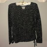 American Eagle Outfitters Tops   American Eagle Outfitters Side Lace Up Sweater   Color: Black/White   Size: S