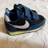 Nike Shoes | Baby Nike Leather Sneakers Tennis Shoes Blue | Color: Blue/Yellow | Size: 4.5bb