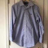 Ralph Lauren Shirts | Euc Ralph Lauren Blue White Striped Shirt 15.5 | Color: Blue/White | Size: 15.5