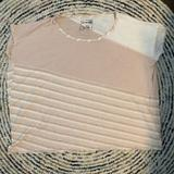 Free People Tops | Free People We The Free Pink Striped Boxy Tee | Color: Pink/White | Size: M