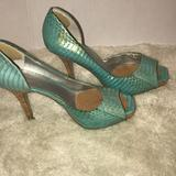 Jessica Simpson Shoes | Jessica Simpson Heels Soo Trendy | Color: Blue | Size: Says 6.5 But Fits Like A 7