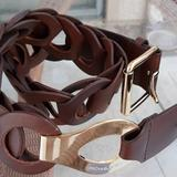 Michael Kors Accessories | Michael Kors Leather Belt | Color: Brown/Gold | Size: 34,35,36,37,38