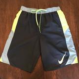 Nike Swim | 2$40 Nike Black W Neon Green Swim Trunks Sz Med | Color: Black/Green | Size: M