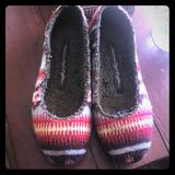 American Eagle Outfitters Shoes | American Eagle Comfy Flats | Color: Brown/Red | Size: 8
