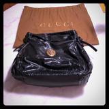Gucci Bags | Gucci Leather Handbag - Euc - Authentic- Black | Color: Black | Size: 17x13.5
